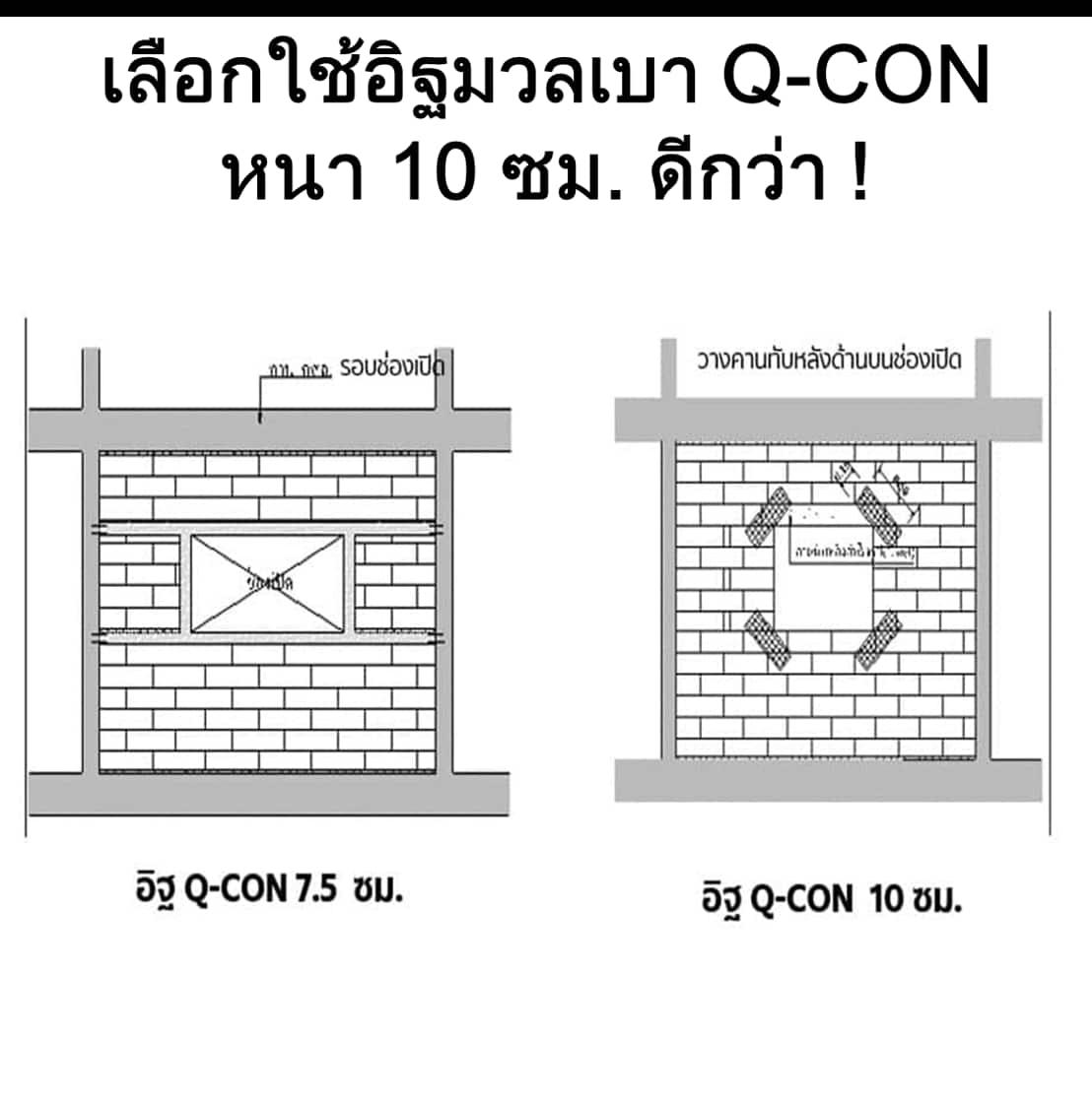 ทำไมจึงต้องใช้อิฐมวลเบา Q-CON หนา 10 ซม.